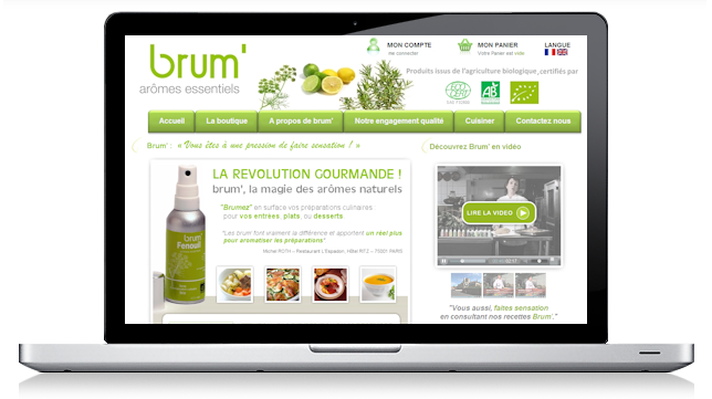 Brum aromes alimentaire